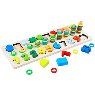Muyindo Montessori Materiales Madera Bloques De Matemáticas