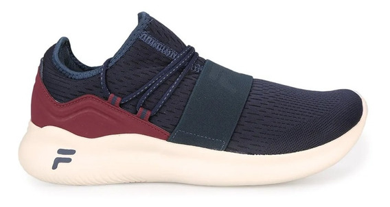 Zapatillas Fila Trend Running Hombre Marino Bordo