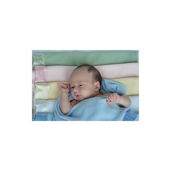 Manta De Bebé Con Tejido De Gofre Térmico Con Borde De Nilón