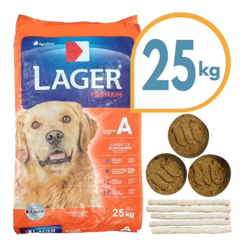 Imagen 1 de 2 de Comida Premium Lager Perro Adulto 24 Kg + Envío Gratis