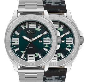 Relógio Condor Troca Pulseira Prata Barato Nfe Co2115kua/t3a