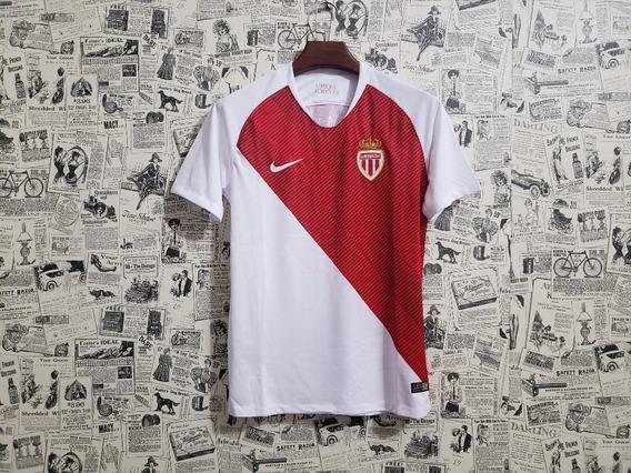 Camisa Monaco I Branca 18/19 Original