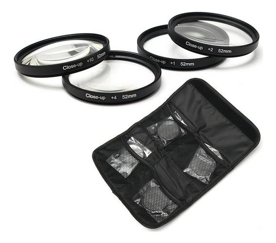 Kit Filtro Macro Close Up +1 +2 +4 +10 46mm