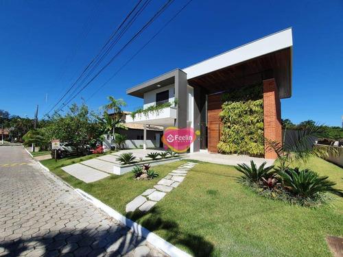 Imagem 1 de 30 de Casa Com 3 Dormitórios À Venda, 470 M² Por R$ 2.900.000,00 - Sambaqui - Florianópolis/sc - Sc - Ca0004_feelin