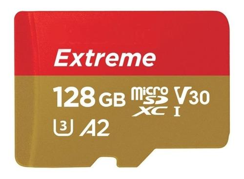 Imagem 1 de 4 de Cartão de memória SanDisk SDSQXA1-128G-AN6MA  Extreme com adaptador SD 128GB