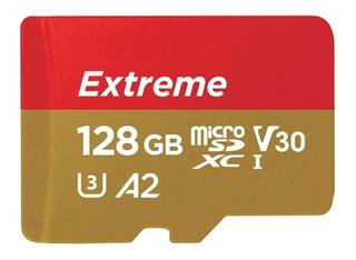Cartão de memória microSDXC SanDisk SDSQXA1-128G Extreme 128GB
