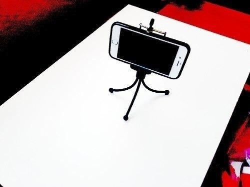 Suporte C/ Tripe Adaptador Celular Pau Self Bastao Android