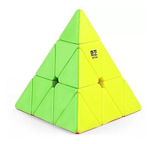 Piramide Mofangge Qiyi Pyraminx Full Color Stickerless