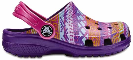 Zapato Crocs Unisex Infantil Classic Graphic Clog Morado