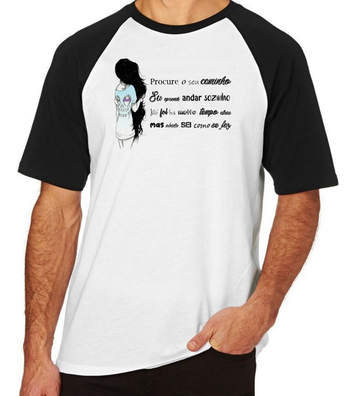 Camiseta Luxo Procure Seu Caminho Menina Frase Andar Sozinho