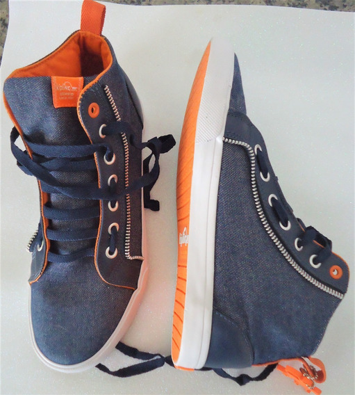 Tênis Kipling Cano Alto - Azul Jeans No. 38