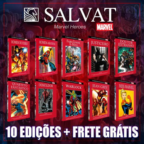 Pacote Marvel 15 Salvat Capa Vermelha - Edições Especiais