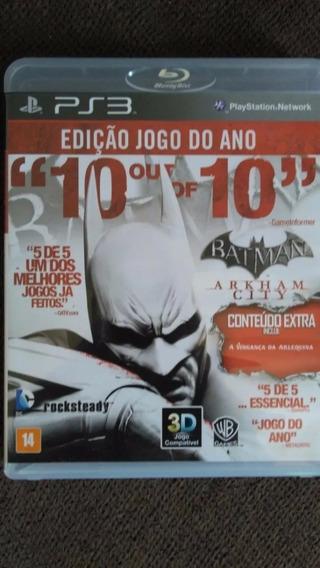 Jogo Ps3 Batman Arkham City 10 Out-of 10 Edição Jogo Do Ano