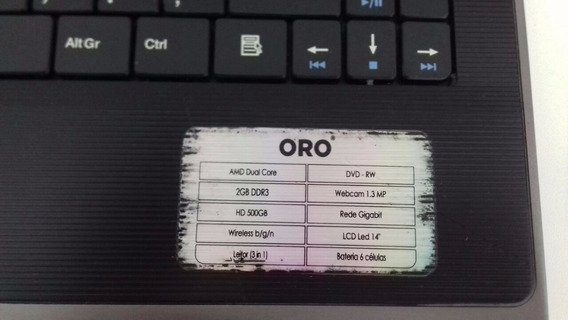 Carcaça Not Oro C-50 Ibyte Pcw20 La-7491p Com Teclado