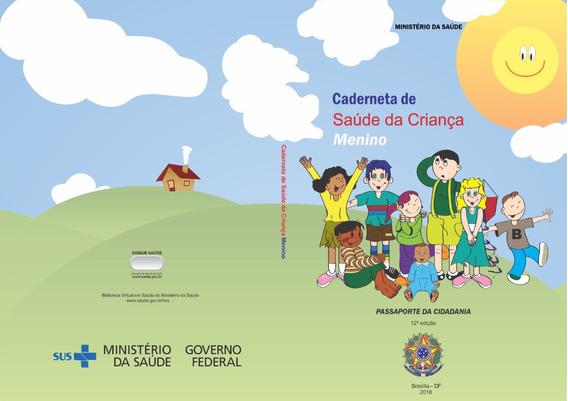 Impressão/encadernação Caderneta Vacina Menino 12ª Edição