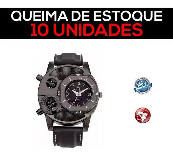 10 Relógios De Pulso V8 Parafusos Redondo Sports - Promoção