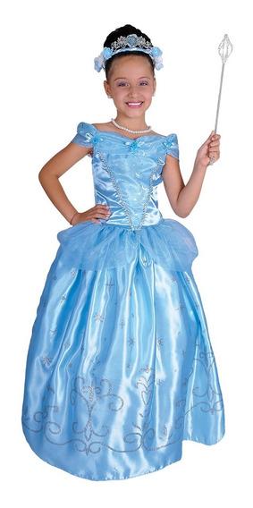 Disfraz De Princesa Cenicienta Niña Carnavalito -d600