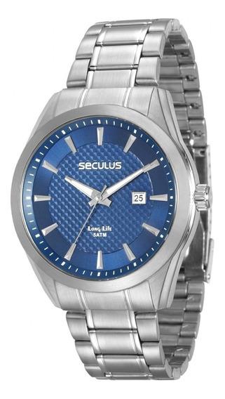 Relógio Masculino Seculus 28836g0svna1 Cromado Analógico