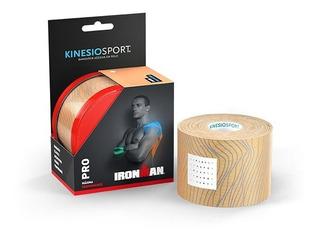 Bandagem Elástica Adesiva Kinesio Sport Pro Profissional Mais Dias Na Pele Rolo 5 Cm X 5 Metros Ironman