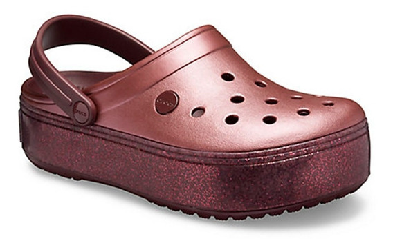 Sandalia Crocs Crocband Platform Mujer Original Metallic Clg