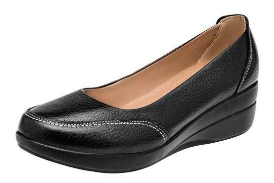 Zapatos Casual Mujer Negros Zoe Tacon 5 Cm 100% Piel