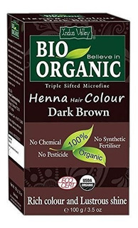 Indus Valle Bio Organico Henna Natural Cafe Oscuro Color De