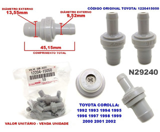 Valvula Pcv Emg Toyota Corolla 1.8 E 1.6 9n4/1220415050
