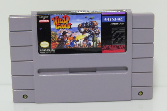 Wild Guns Original Repro Snes Super Nintendo