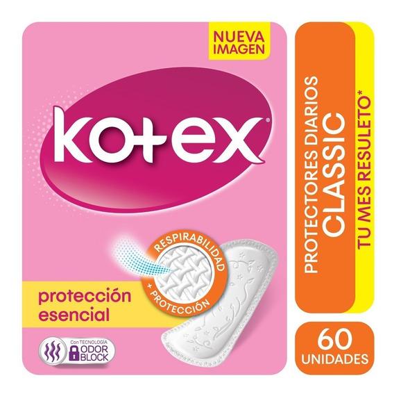 Protector Diario Kotex Classic X 60 Unidades