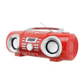 Boombox Áudio Philco Pb130v, Mp3, Usb, Vermelho - Bivolt