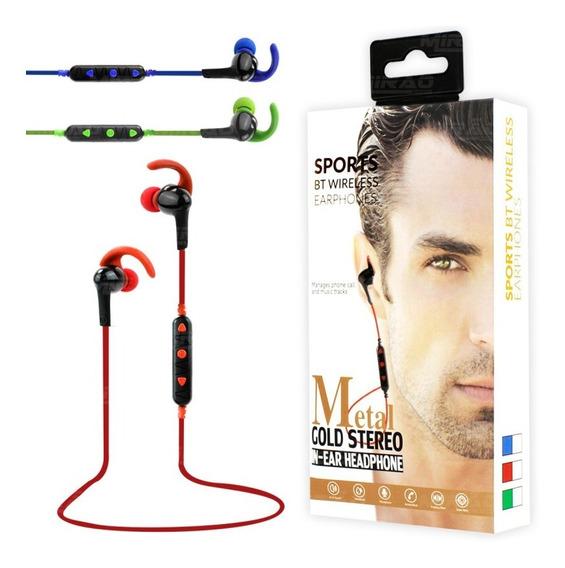 Fone De Ouvido Sport Bluetooth 4.1 Intra Auricular Verde