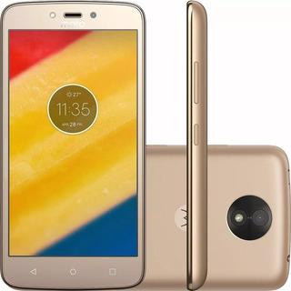 Celular Motorola Moto C Plus Xt1726 Ouro Dual Android 7.0