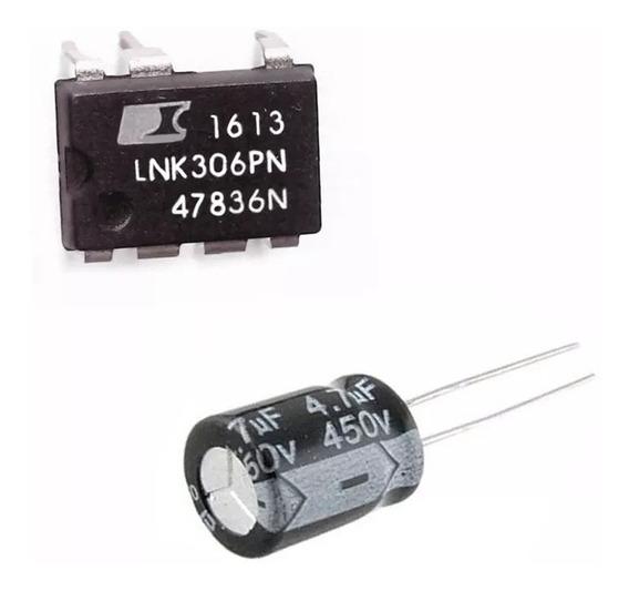 10 Unid Ci Lnk306pn + 20 Unid Cap Eletr 4,7uf 450v Pronta En