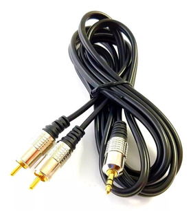 Cable Y De Audio 3.5mm A Doble Rca Estereo Refozado 081-129