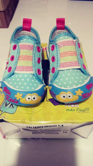 Zapatos Niña Goma Vita Kids Talla 19 Deportivo Princesa
