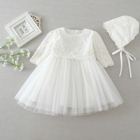 Vestido De Bautizo Bebe Niñas-ropa Para Niñas-vestido Blanco