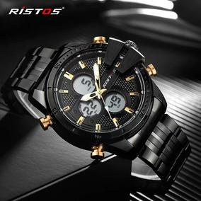 Relógio Ristos Luxo Cronógrafo Esportivo Original Na Caixa