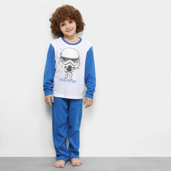 Pijama Masculino Menino Manga Longa Inverno