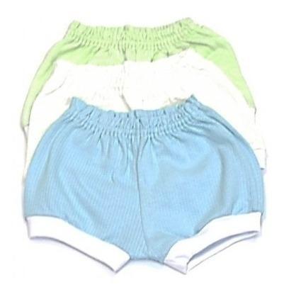 Kit Com 03 Shorts Tapa Fraldas Special