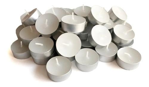 300 Velas Rechaud Brancas Em Suporte Alumínio - 4hrs Queima