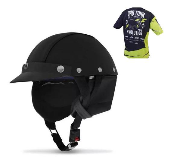Capacete Coquinho Couro Moto Bike Chopper Custom + Brinde