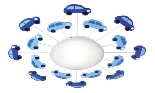 Plafón Infantil Autos P/ Lampara E27 Brilla En La Oscuridad