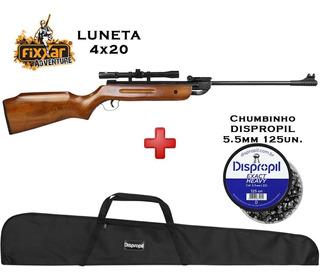 Carabina Fixxar Spring Forest 5.5 + Luneta + Capa+ Chumbinho