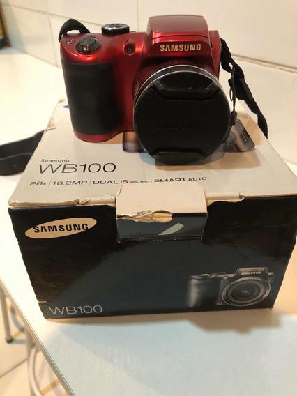 Câmera Samsung Wb100 - 26x / Lcd 3.0 / 16.2m / Zoom 26x