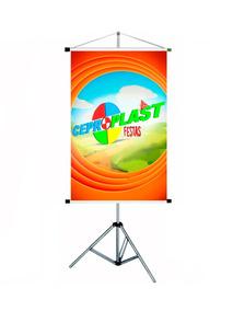 Porta Banner 1,80m Pedestal Tripé Suporte