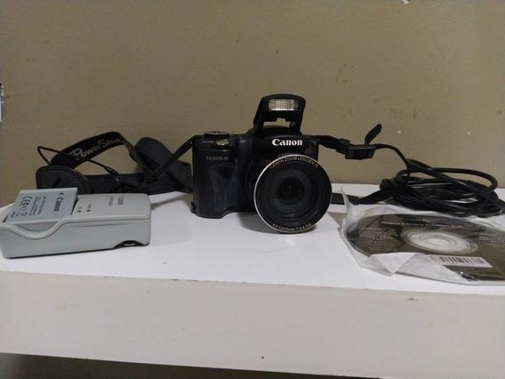 Câmera Canon Sx500is Com 30x De Zoom