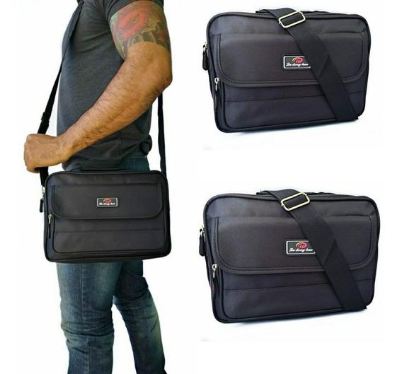 Bolsa Bag Pasta Masculina Lado Tiracolo Transversal Lateral