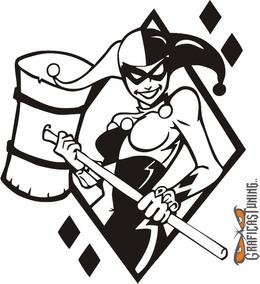 Calcomanía Harley Quinn 05 - 11 X 12 Cm Graficastuning