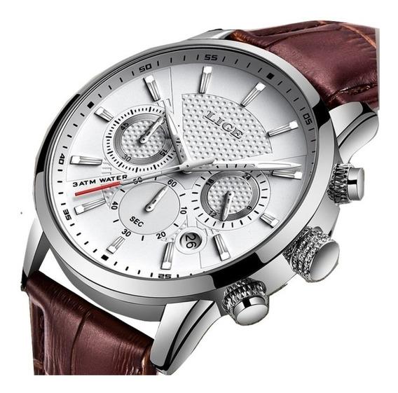 Relógio Masculino Lige Social Luxo Original + Nfe
