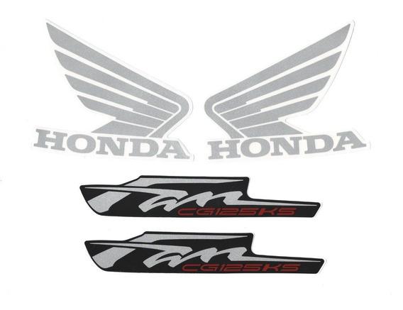 Kit Adesivos Honda Fan Cg 125 Ks 2013 Preta